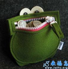 好可爱的青蛙钱袋!