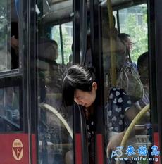 One Woman Neck Caught in Bus Door