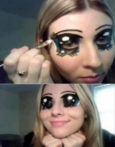 你们男人不都喜欢大大亮亮的眼睛吗