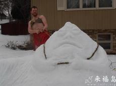 抓住雪怪了