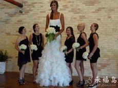 史上身高最高的新娘
