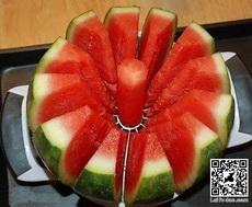 Knife watermelon.