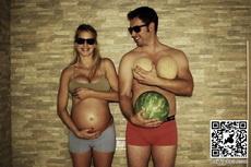 创意摄影:与怀孕的妻子一起