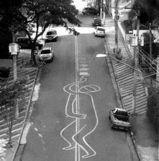 When art invades the asphalt