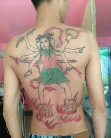 这纹身,霸气,高端,上档次