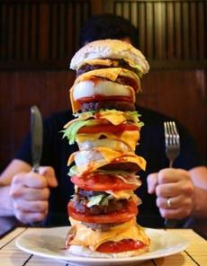 医生说:?#27426;?#21482;能吃一个汉堡