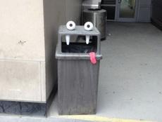 这年头连垃圾桶都开始卖萌了