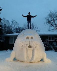 你们堆的雪人都弱爆了!