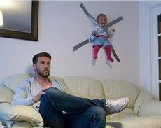 老妈不在家,宝宝与爸爸的日常