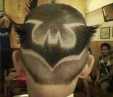 蝙蝠侠的发型