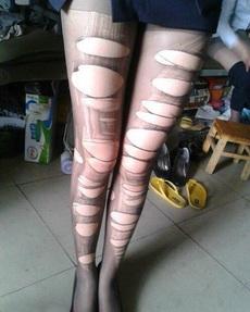 新潮的丝袜,蹦时尚!