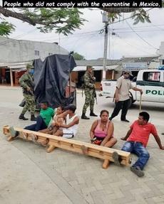墨西哥如何對付疫情期間不聽話的人