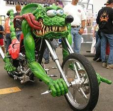 weird motorbike