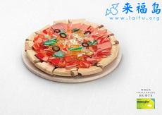 玻璃匹萨你敢吃吗?
