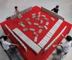 Playing huge mahjong