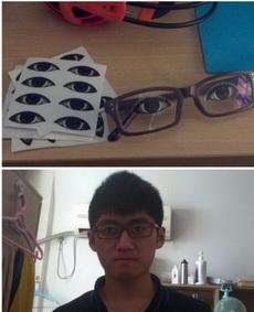 有了戴眼睛的眼镜,我在也不怕上课睡觉被老师发现了~~