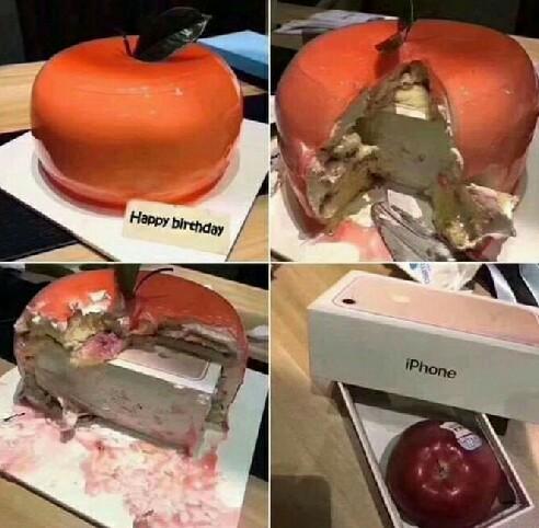 老婆说生日礼物想要苹果,我送的没错吧?