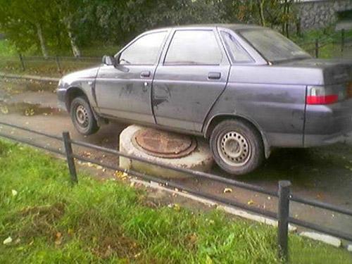新手司机,以为自己是越野车呢