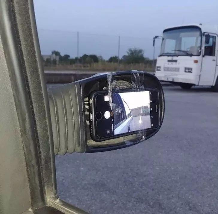 后视镜坏了
